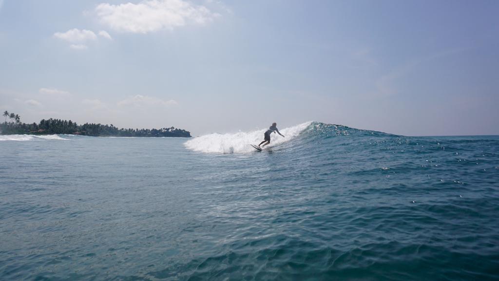 Chris aan het surfen