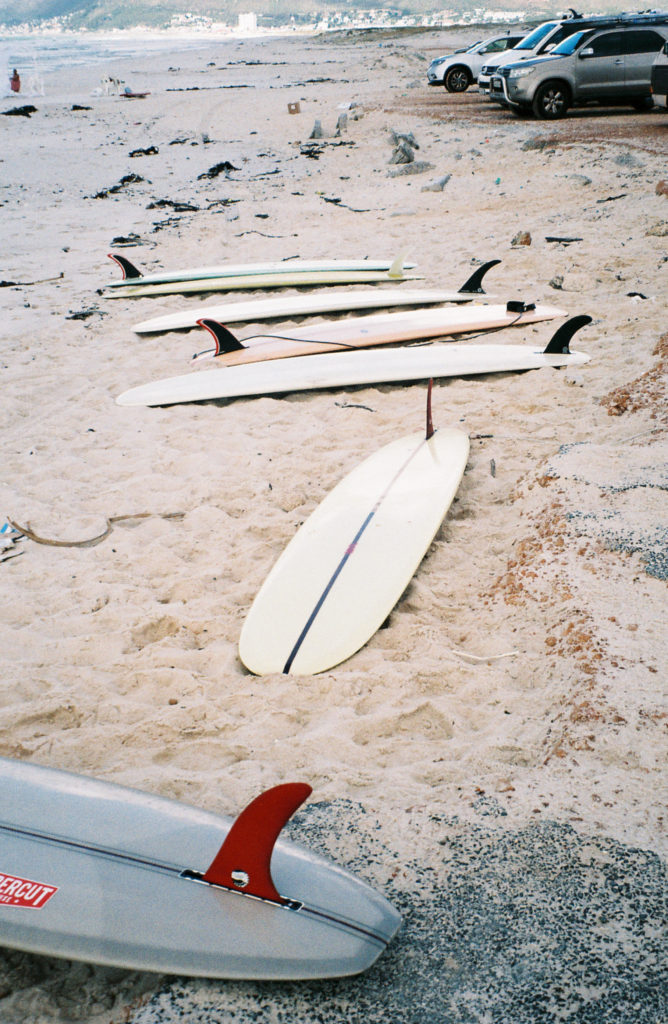 Longboards on the beach